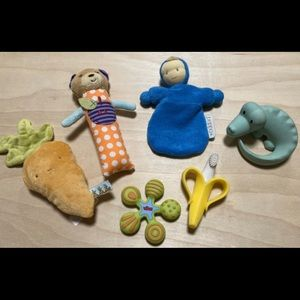 Assorted Cloth/Silicone/ Toy Bundle